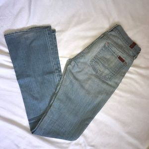 7 For All Mankind light wash jeans (LONG)